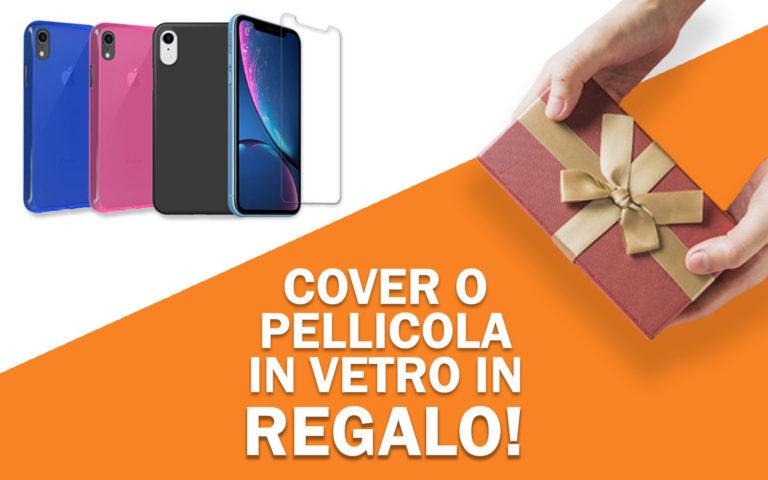 Cover o pellicola di vetro in regalo per iPhone XR