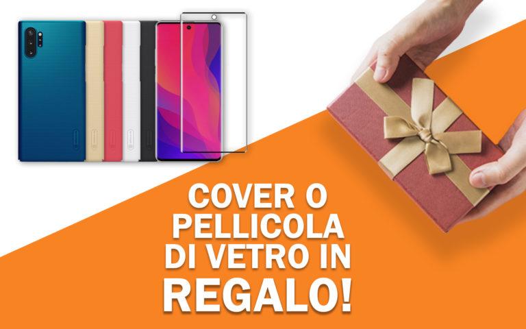 Cover o pellicola di vetro in regalo per Samsung Note 10