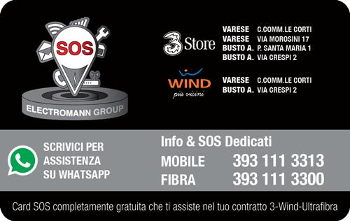 Tessera dedicata per l'assistenza dei negozi 3 e Wind