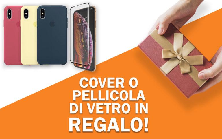 Cover o pellicola di vetro in regalo per iPhone XS