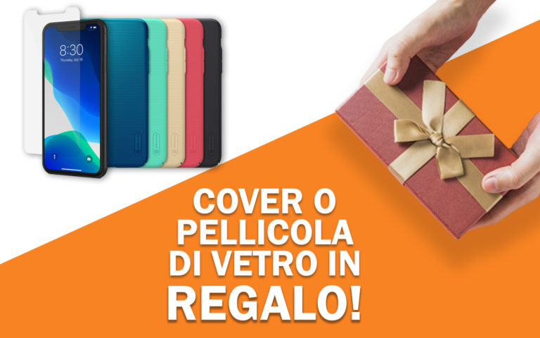 Cover o pellicola di vetro in regalo per iPhone 11