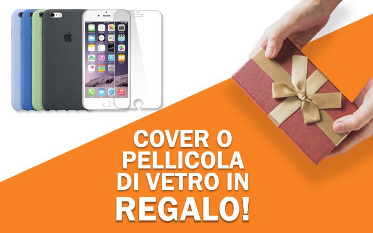 Cover o pellicola di vetro in regalo per iPhone 7