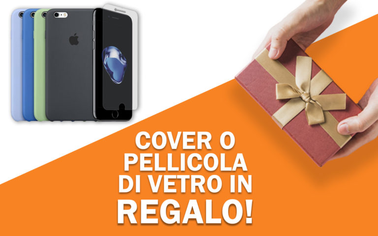 Cover o pellicola di vetro in regalo per iPhone 8