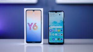Schermo telefono Huawei Y6 2019 e scatola originale