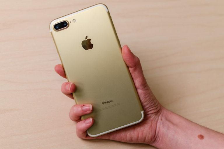 retro iPhone 7 color oro