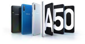 Samsung A50 nelle varie colorazioni